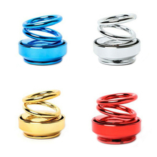 car ornaments circular rotating double ring aromatherapy aluminum alloy suspension Solar automatic