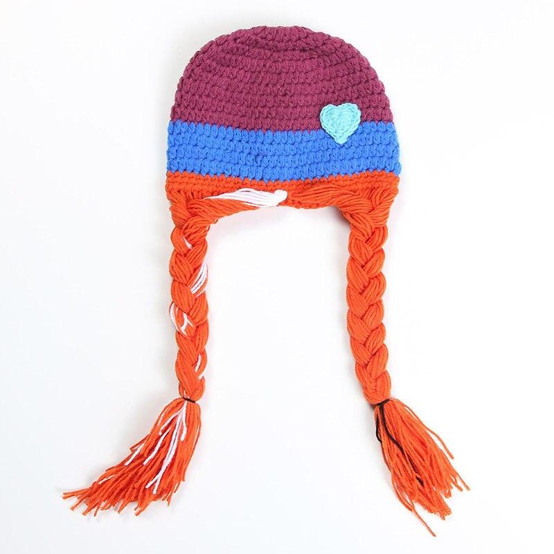 Cartoon Movie Girls Princess Knitted Hat Kids Baby Girls Boys Hat Winter baby Beanies Handmade Crochet Caps
