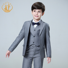 цена Nimble Suit for Boy Single Breasted Boys Suits for Weddings Costume Enfant Garcon Mariage Boys Blazer Jogging Garcon Grey онлайн в 2017 году