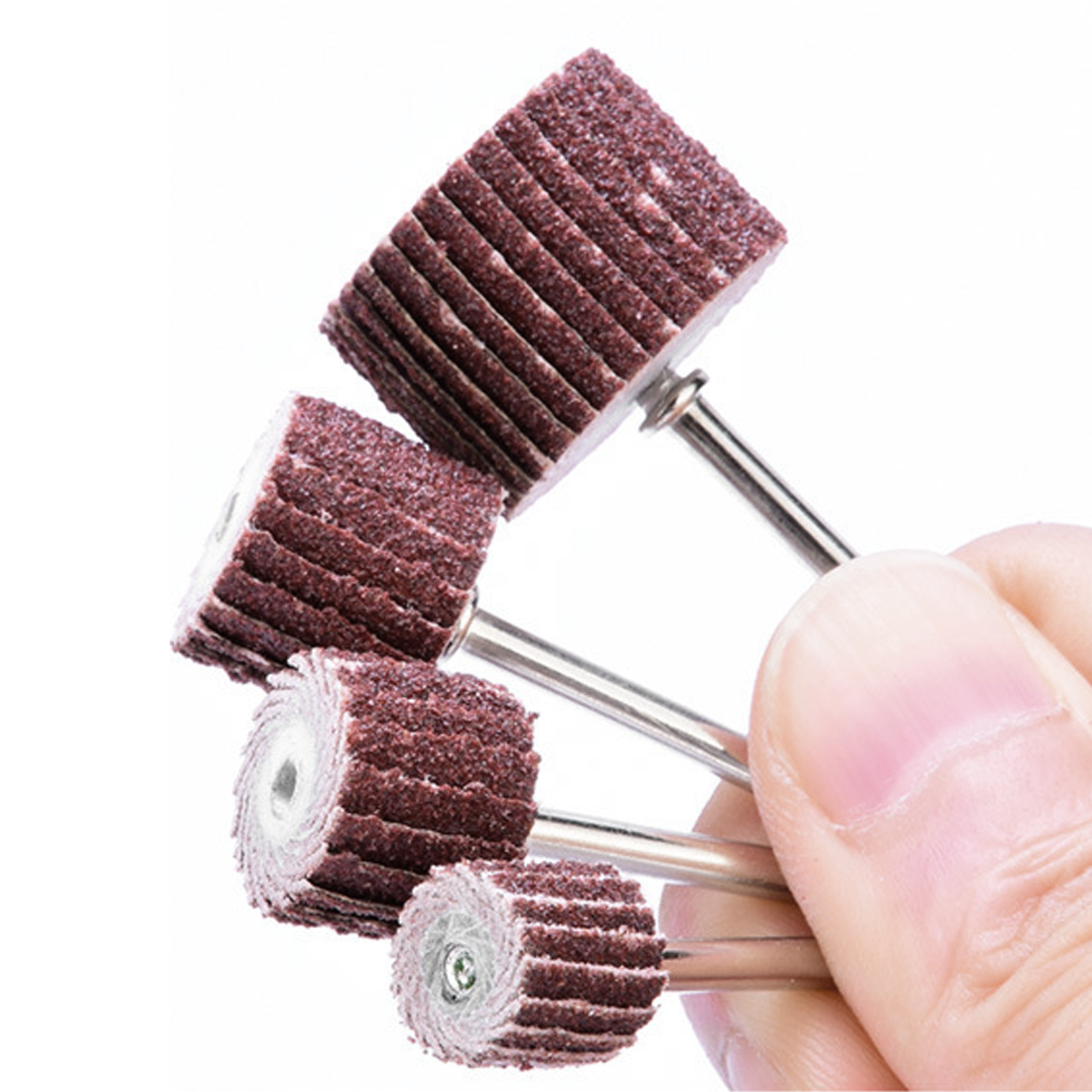 10pcs+1 10-12mm Sanding Flap Disc Grinding Flap Wheels Brush Sand Dremel Accessories For Abrasive Grinder Rotary Dremel Tools