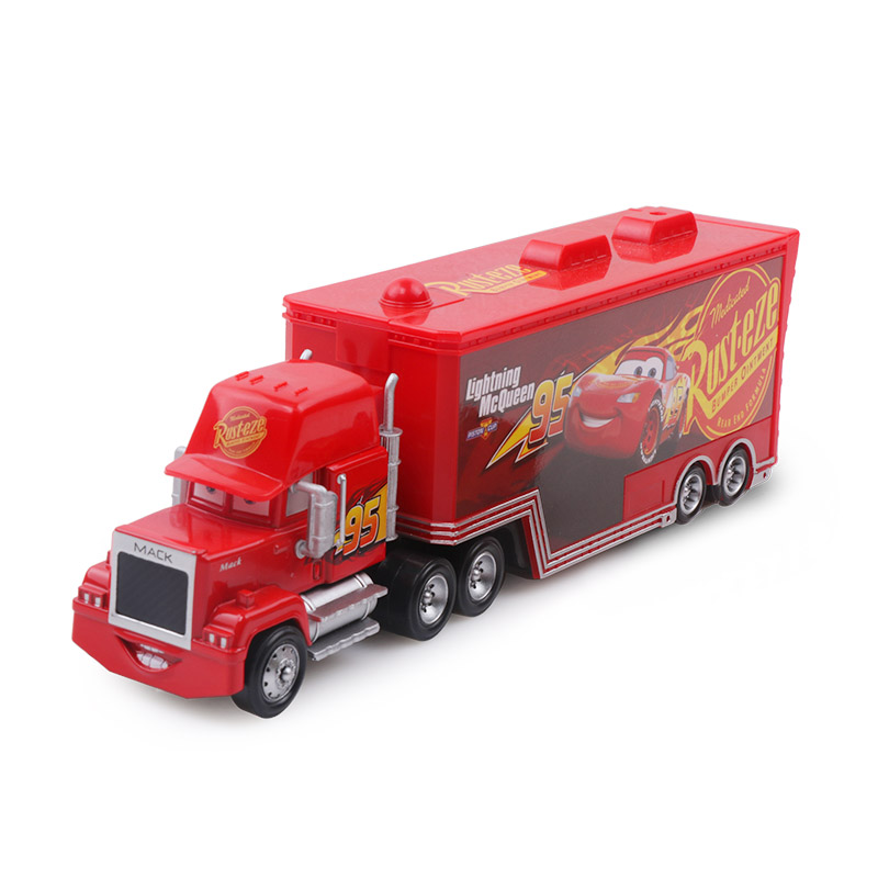 Дисней Pixar Тачки 2 3 игрушки Молния Маккуин Джексон шторм мак грузовик 1:55 литая под давлением модель автомобиля для детей рождественские подарки - Цвет: macqueen 3.0 uncle