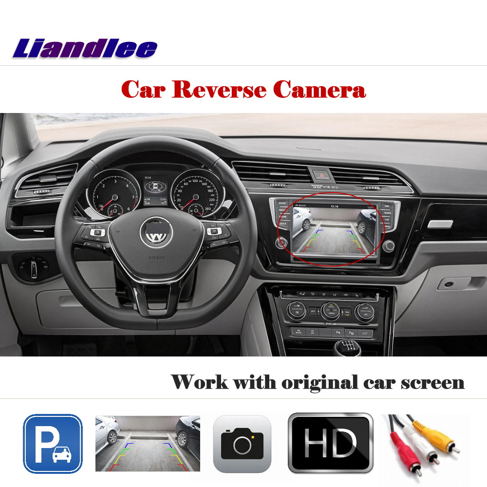 Liandlee Auto Reverse Rear Camera For Volkswagen Touran 2015~2018 / HD CCD Back Parking Camera Work with Car Factory Screen