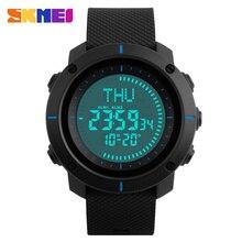 SKMEI Compass Sport Watches Men World Time Outdoor Waterproof Male Countdown Men's Watch Digital Wrist Watch Relogio Masculino