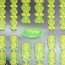 7 colors High Quality 3d Gold Nail Art Stickers Decals Hot Stamping Nail Tips Decorations beauty Tools Nails Accessories