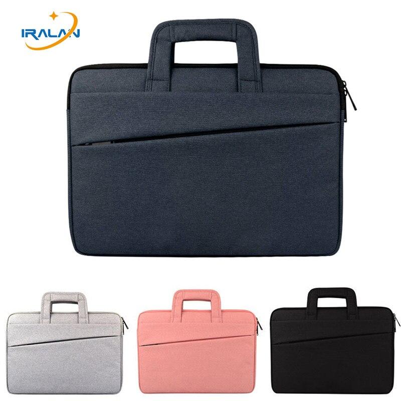New Handbag briefcase Waterproof Laptop Bag for MacBook Air PRO Retina 11 12 13 15 inch cover 14 15.6 Women Notebook Sleeve Bag