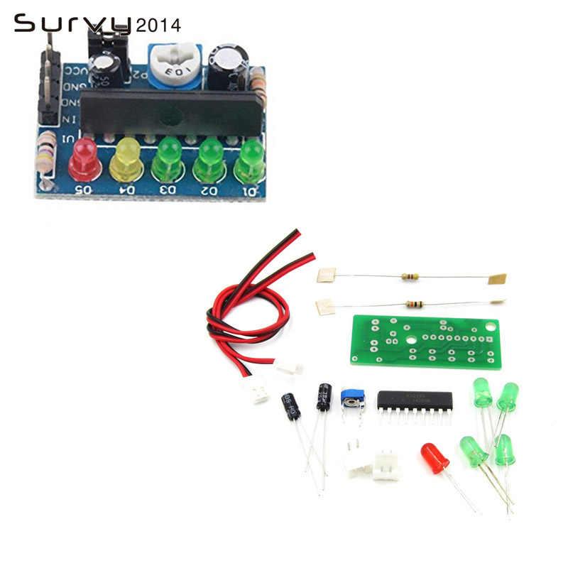 Indicador de nivel de Audio indicador de nivel de potencia módulo indicador de nivel KA2284 3,5 V-12V controlador AC DC Pcb Board