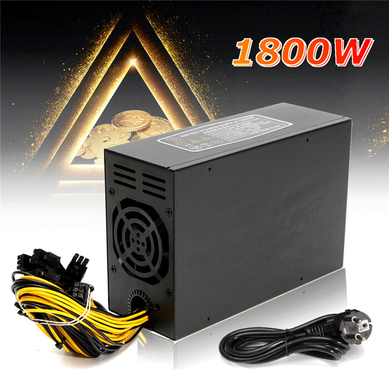 Power Supply for Server 1800W Miner Machine Power Supply For 6 GPU ETH BTC Ethereum Antminer S7 S9 T9 for Mining spot goods antminer s5 1155 gh s asic miner bitcon miner 28nm btc mining sha 256 miner power consumption 590w
