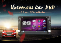 autoradio 2 din radio car dvd player GPS navigator 6.2inch 2din Universal Car Radio In Dash Stereo Video Free Map