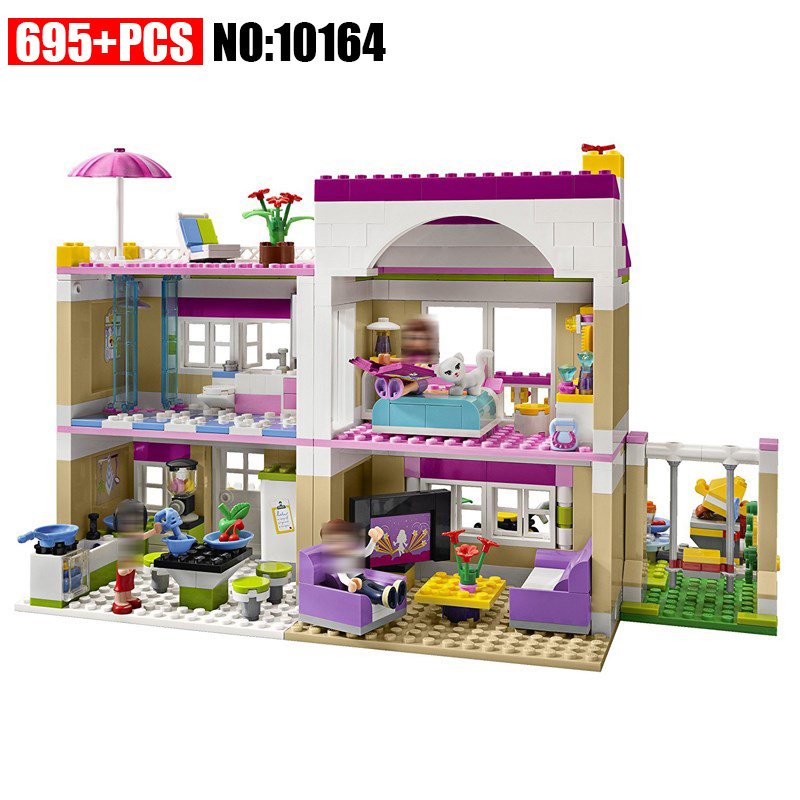 10164 compatiable with Friends Olivia's House building bricks blocks Toys for children Girl Game Castle Gift 3315 2017 hot sale girls city dream house building brick blocks sets gift toys for children compatible with lepine friends