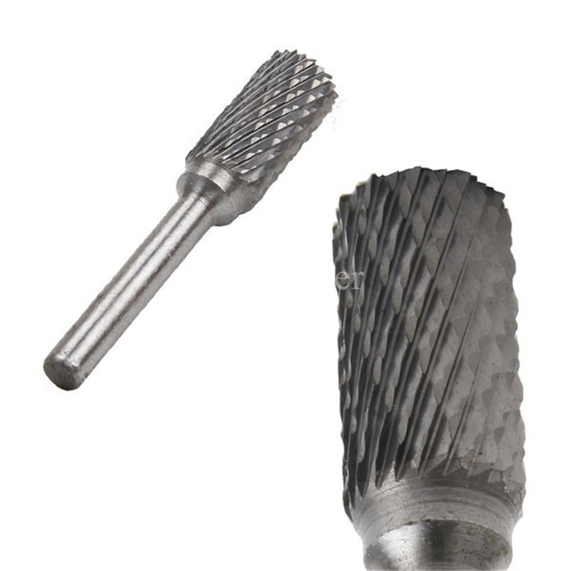 цена на Carbide Burr 12mm Dia 6mm Shank Cylinder Double Cut Tungsten Carbide Rotary File Cutting Burs Tool Rotary Drill Die Grinder Bits