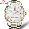Карнавал механические наручные часы автоматические часы для мужчин бизнес нержавеющая сталь водонепроницаемые мужские часы Топ бренд ...