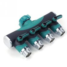 Agricultural & Commercial Use 3/4 Inch Garden Hose 4 Way Splitter Water Pipe Faucet Shut-off Valve Connector US Standard Thread