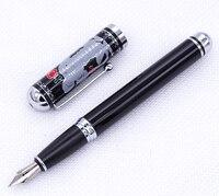 Duke Black Fountain Pen   Beautiful Mouse Pattern on Cap Medium Nib 0.7mm Writing Gift Pen for Office   Home  School