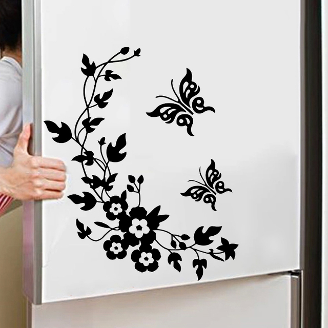 Classic Butterfly Flower Stickers 2