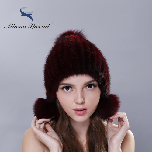 2016 Cheap Real Mink Fur Hat For s