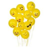100 PCS 12 Emoji Latex Balloons Hot Expression Ballon Wedding Birthday Party Supplies Smile Latex Globos