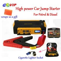Стартер руля автомобиля Батарея аварийного автомобиля запуска и зарядки Системы с 16000 мАч 800A пиковый ток Smart Мощность клипы