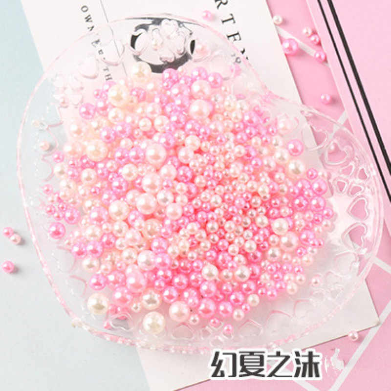 2/3/4/5mm Multi size option about 500Pcs/lot random mix color no holes Pearls Round Beads For DIY Craft Scrapbook Decoration