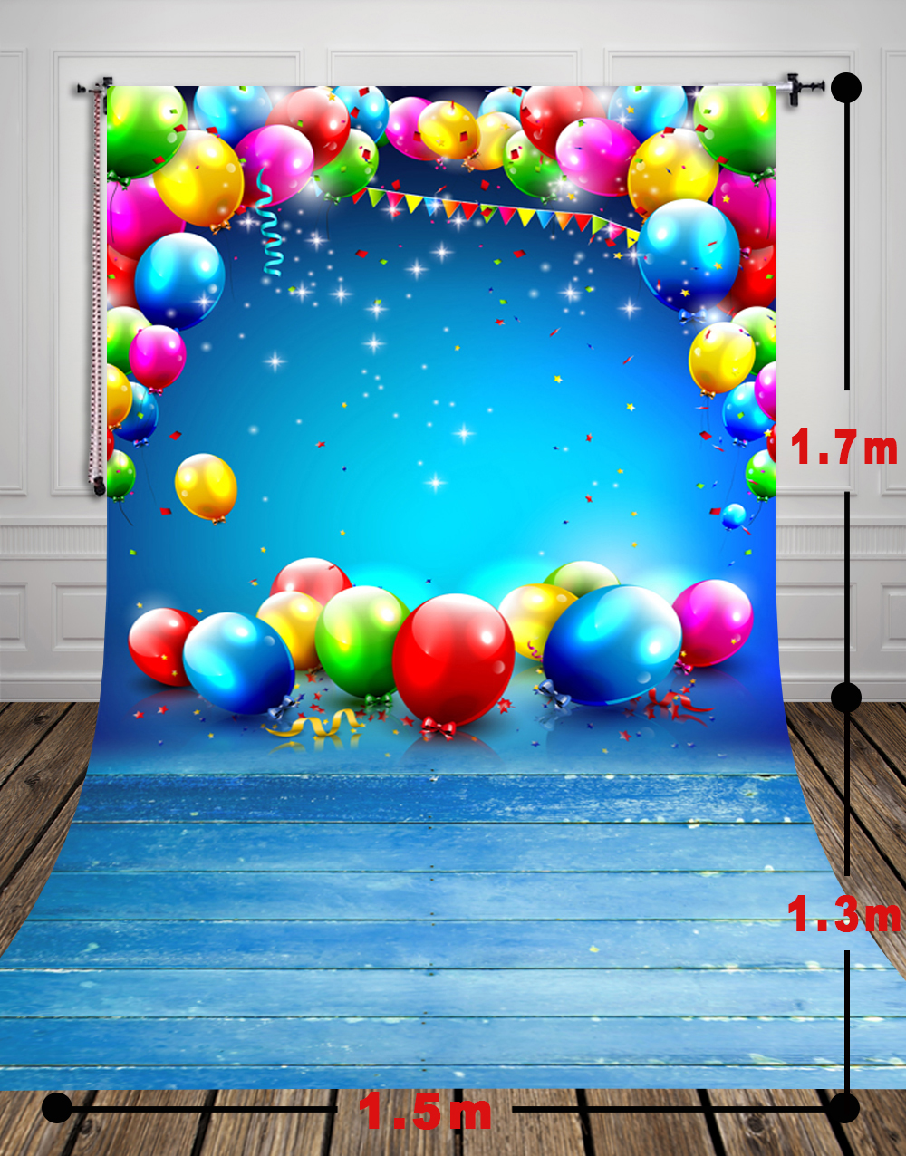 HUAYI 5x10ft Art fabric Birthday Party Backdrop Photography For Newborn Drop Background D-9944