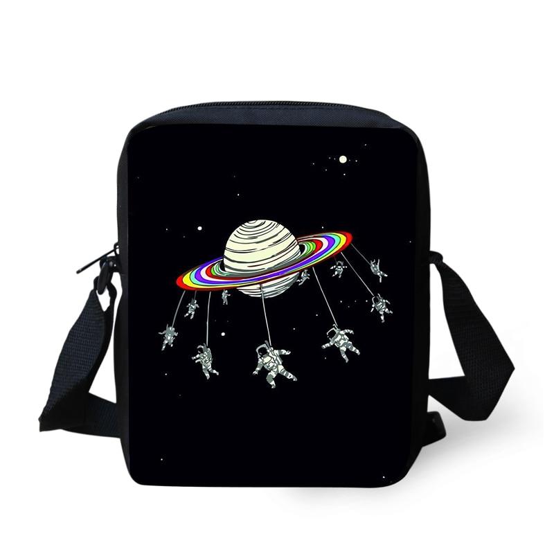 Thikin Alien Shoulder Bag for Kids Boys Mini Square Messenger Children Travel Crossbody Versipacks in Crossbody Bags from Luggage Bags