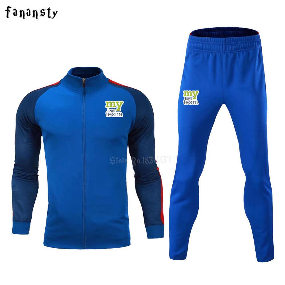 6278038f19f5 ... Высокое качество спортивный костюм футбол 2017 для мужчин training  Куртка костюмы для взрослых Униформа на заказ