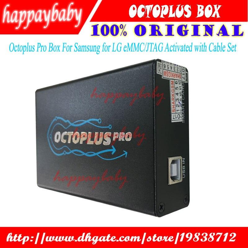 2018 Nuova Versione Originale Octoplus Box Pro + 7 Set di Cavi per Samsung per LG + eMMC/JTAG Attivato