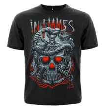 T Shirt In Flames Through Oblivion Different Size A Metal Band Nation Short Sleeve T Shirt Fashion(China)