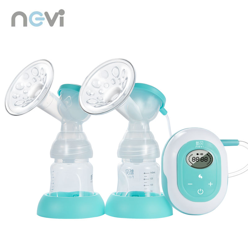 Ncvi New Large Suction Double Electric Breast Pump Baby Feeding BPA Free Breast Milk Pump Free Shipping XB-8617-II
