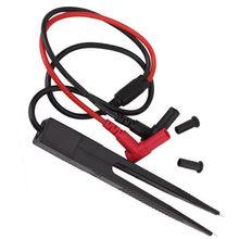 1 sztuk induktor SMD klip testowy pincety sondy do rezystora multimetr kondensator CA