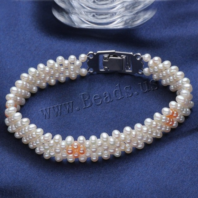 2017 New Real Natural White Freshwater Pearl Bracelet for Women High Quality Jewelry Accessories Handmade Craft Pearl Bracelets