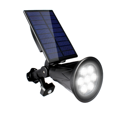t sunrise 7 led solar lampada pir