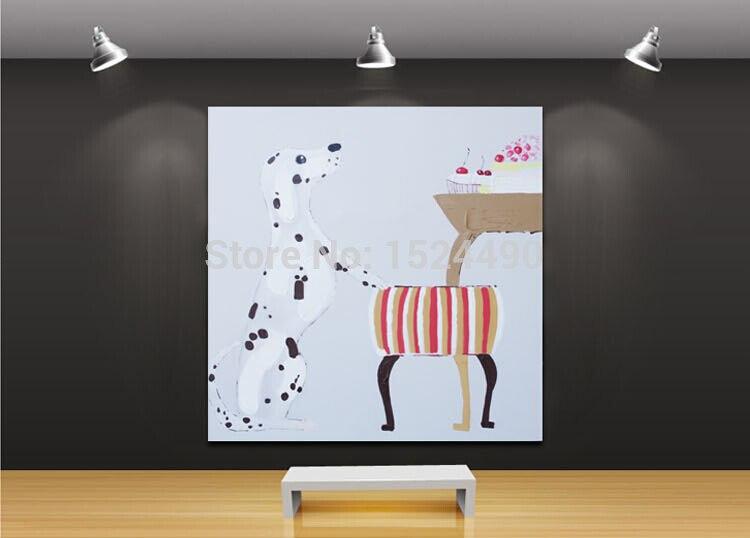 c3c559e29 الحيوان النفط اللوحة اليدوية الصور الحب لسرقة إلى أكل الكلب ل غرفة المعيشة  ديكور المنزل جدار الفن الساخن بيع لوحات