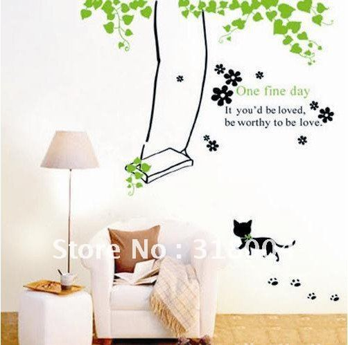Free shipping large size removable wall sticker decal for kids room ...