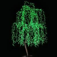 Free Ship Christmas New Year Wedding LED Willow Tree Light LED 1152pcs 2m 6 6FT Green