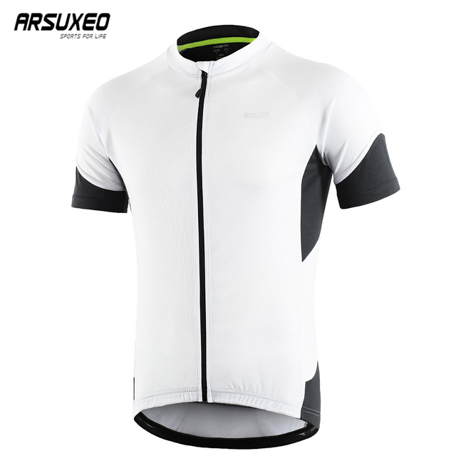 ARSUXEO 2019 Men Summer Cycling Jersey Short Sleeves Downhill MTB Mountain Bike Shirts Bicycle Clothing Pro Team Quick Dry 650