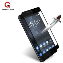 GerTong Full Cover Screen Protector Tempered Glass For Nokia 7 8 5 6 3 2 Protective Glass For Nokia 5 Black White Safety Film