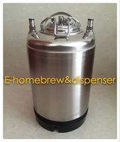 2.5 gallon metal handle Cornelius Ball Lock for homebrew,Pepsi keg with lids and valves.
