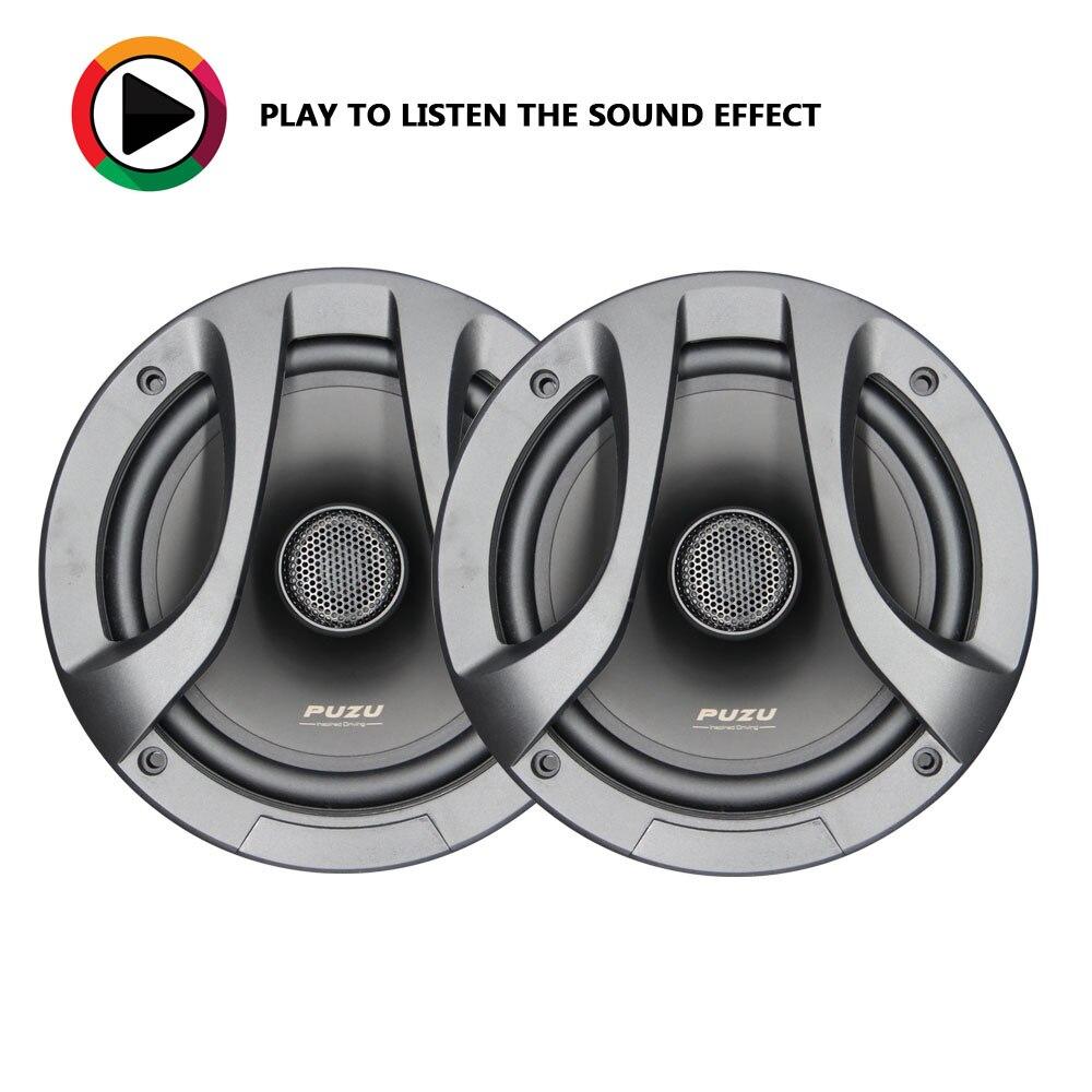 PUZU HiFi 6.5 pouces haut-parleurs audio coaxiaux de voiture tweeter médiums graves son aigus 180 W puissance de sortie PP cône 25mm ASV bobine vocale