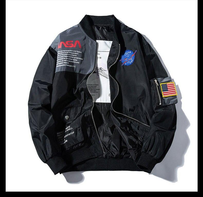 Nouveau 2019 hommes côtes US aérospatiale Ma1 Air Force pilote mode couple Baseball manteaux et vestes abstrait numérique manteau moteur # L5