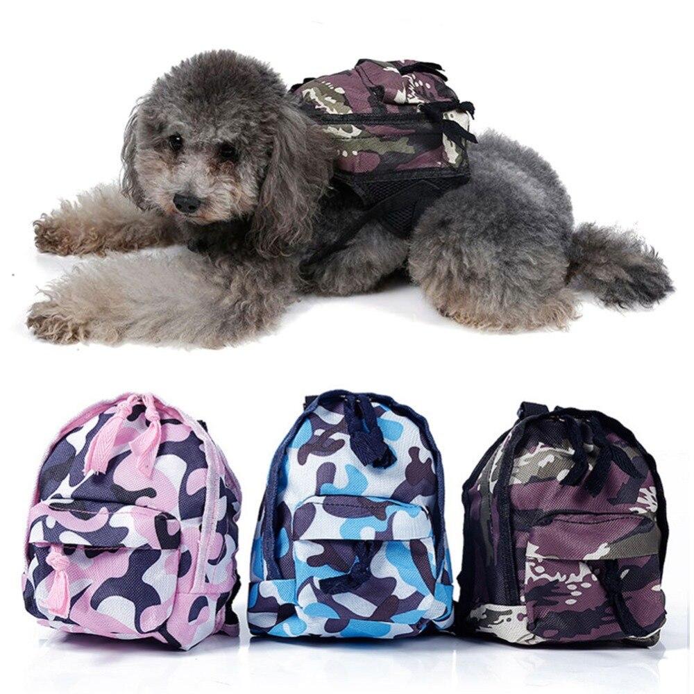 Mode Doux Chiot Chien Voyage Sac Transporteur Camouflage Imprimé Oxford tissu Pet Chiens Sacs À Dos sacs de Transport pour chiens Taille S/L