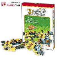 CubicFun 3D Puzzle Paper Model Children Creative Gift DIY Toy Dinosaur World Easy To Assemble Educational