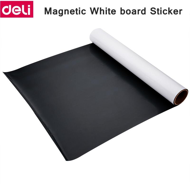 Deli magnetic soft whiteboard sticker soft iron white board sticker wall sticker office message easy erase