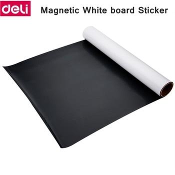 Deli magnétique doux tableau blanc autocollant fer doux tableau blanc autocollant mur autocollant bureau message facile effacer écriture tableau blanc