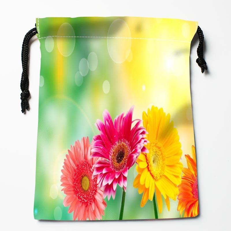New Custom Gerberas Drawstring Bags Custom Storage Bags Storage Printed Gift Bags Compression Type Bags