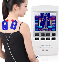 Electronic tens therapy electrode massager machine for full body pain relief muscle training stimulator physiotherapy unit