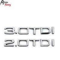 Rhino Tuning 2 0 3 0 TDI Car Tailgate Emblem Silver Auto Styling Boot Trunk Badge