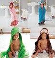 Fotografia Cobertor do bebê Animal Dos Desenhos Animados Cosplay Algodão Moda Macaco CORUJA cão Pato ABELHA Projeto Infantil Kid Veste de Banho para 0-5 anos