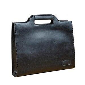 Image 2 - 2019 Vintage الرجال حقيبة الأعمال حقائب مكتبية مجنون الحصان الجلود حقيبة يد جديدة الكمبيوتر حقيبة لابتوب حقائب كروسبودي عادية