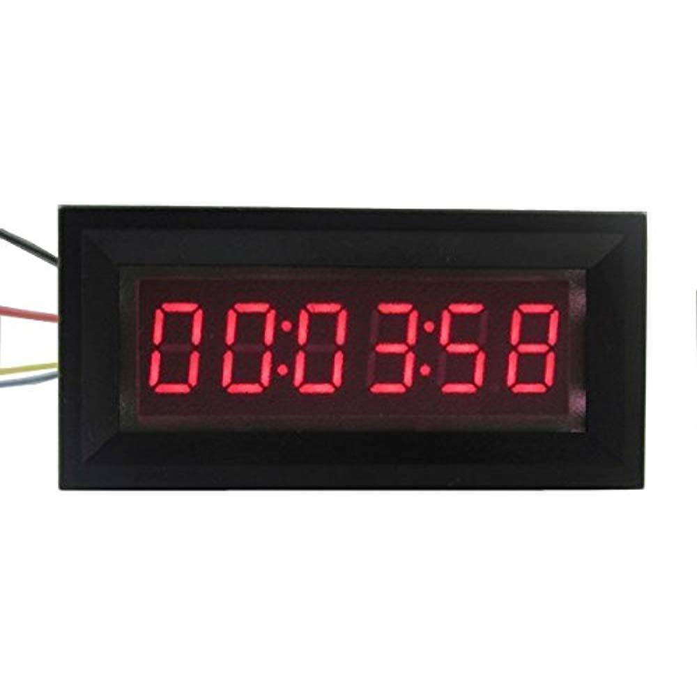 99:59:59 LED Digital Timer Totalizer Hour Chronometer Industrial Meter Panel Digital Clock 12V FOR Voltage Current Measurement