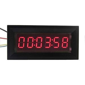 Image 1 - LED dijital zamanlayıcı toplayıcı saat kronometre endüstriyel metre Panel dijital saat 6 bit 12V F/gerilim akım ölçümü